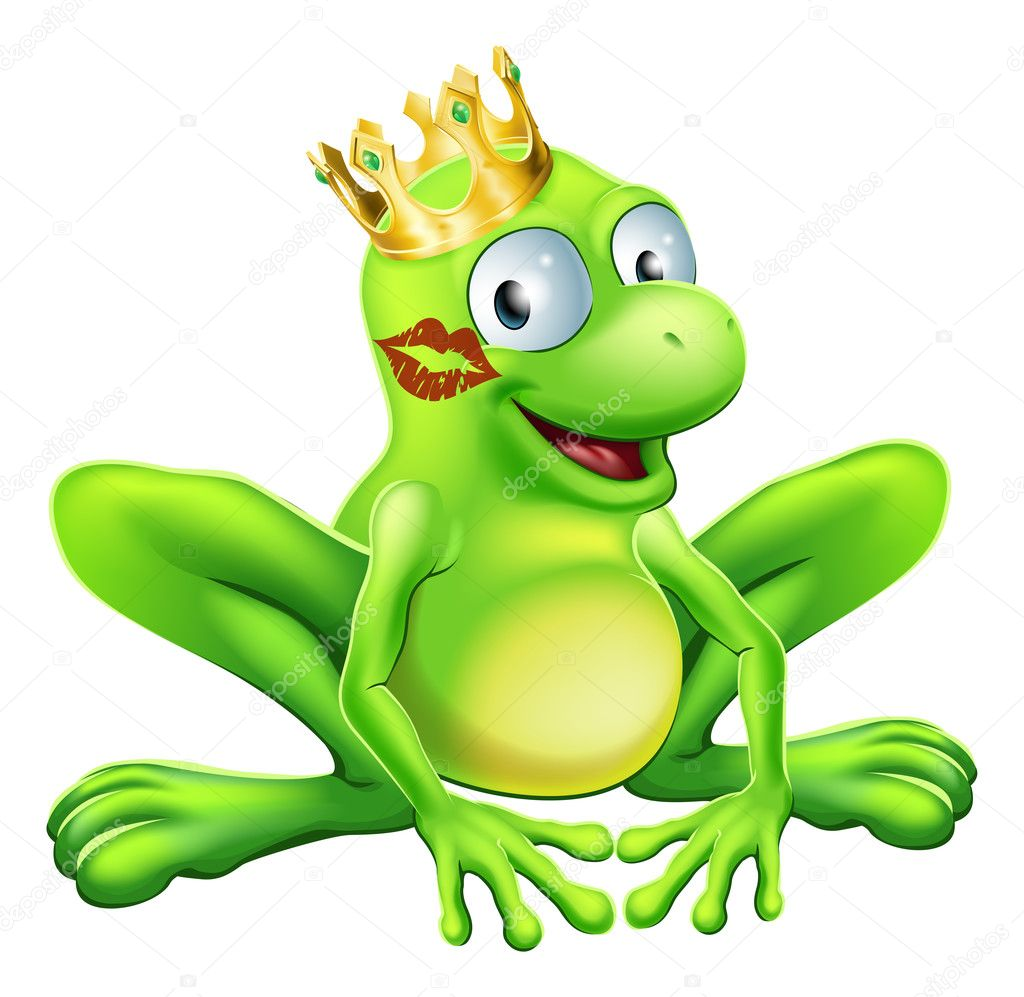 Frog Prince Cartoon — Stock Vector © Krisdog #23668013