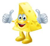 Fotografia uomo di formaggio felice dei cartoni animati