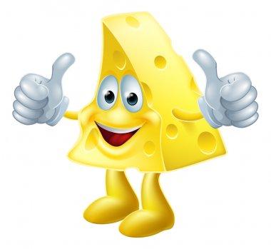 Happy cartoon cheese man