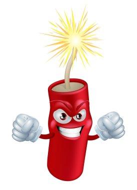 Angry cartoon firecracker