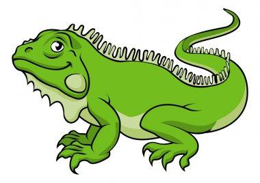 Cartoon Iguana Lizard