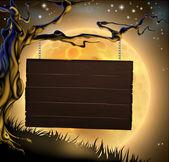 Fotografia sfondo segno albero di Halloween