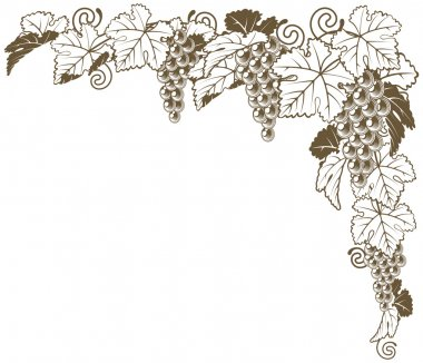 Grape vine corner ornament