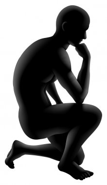 Thinker silhouette concept