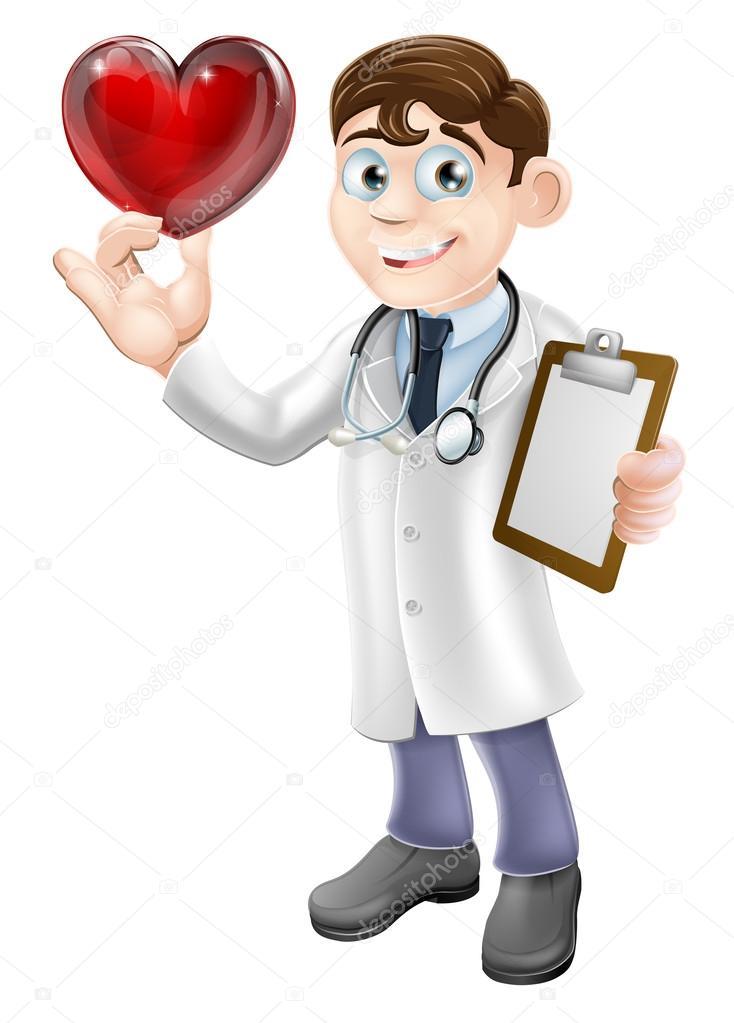 Medico cuore cartone animato — vettoriali stock krisdog