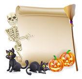 Halloween kostry svitek nápis