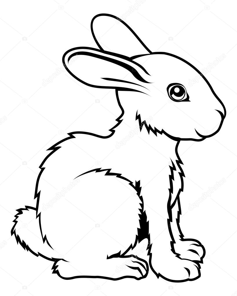 Áˆ Draw A Cartoon Rabbit Stock Pictures Royalty Free Rabbit Images Download On Depositphotos