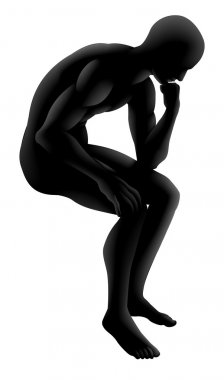 The thinker silhouette concept