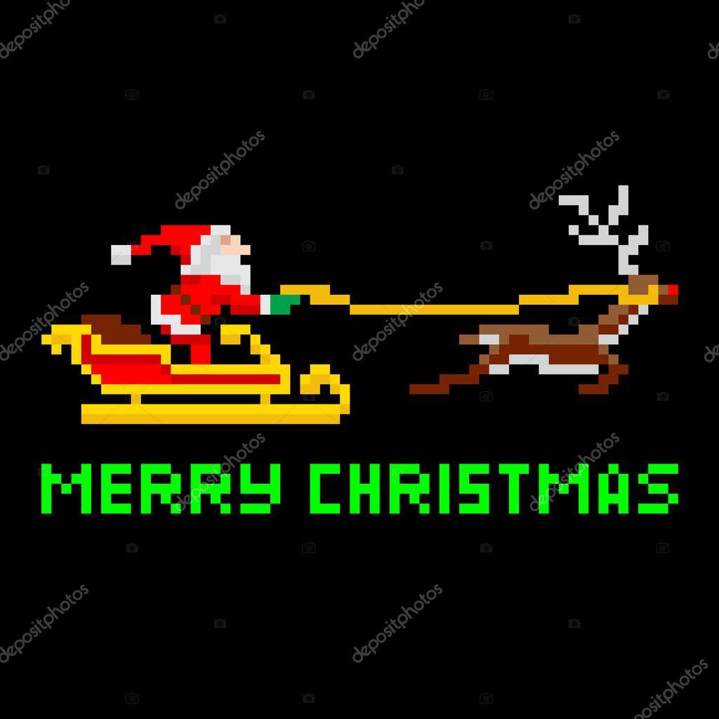 Snes Rétro Noël Santa Image Vectorielle Krisdog 32381765