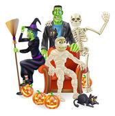 Halloween party skupina