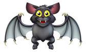 Fotografia simpatico cartone animato di pipistrello halloween