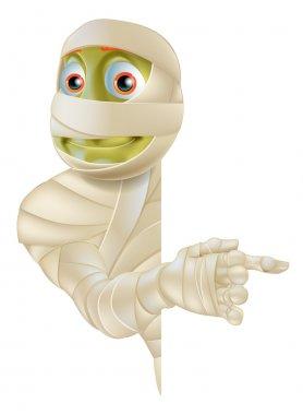 Halloween Mummy Pointing