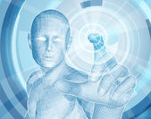 Fotografia concetto di app 3d tecnologia futura