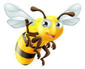 Fotografia cartone animato ape sventolando
