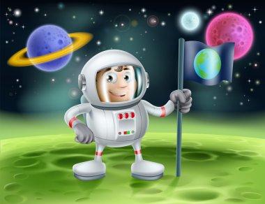 Astronaut Outer Space Cartoon