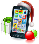 Photo Christmas mobile phone illustration