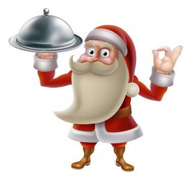 Santa Cooking Christmas Food