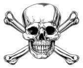 segno depoca teschio e ossa incrociate