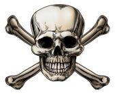 icona del teschio e ossa incrociate