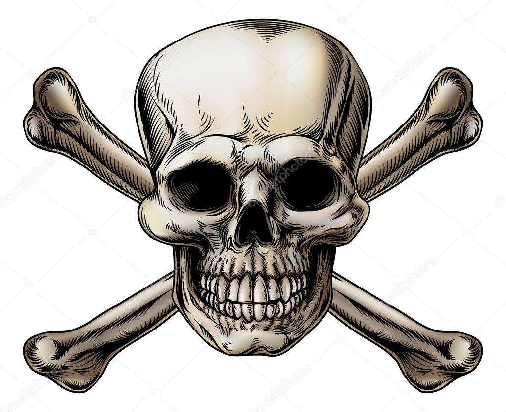Skull and Crossbones Icon — Stock Vector © Krisdog #38564281