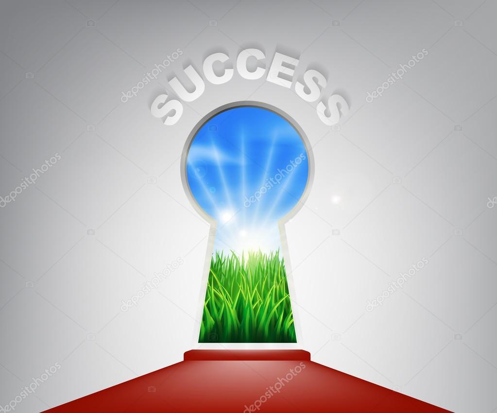 Success Keyhole Concept