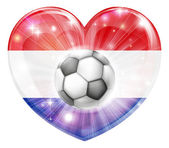 Netherlands soccer heart flag
