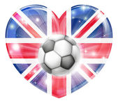 Union jack soccer heart flag