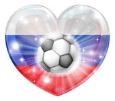 Russia soccer heart flag