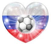 Fotografie Russia soccer heart flag