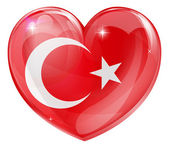 Turkish flag love heart