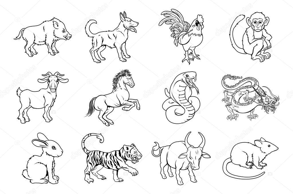 предпочитаю воду рисунки животных восточного гороскопа гелем для