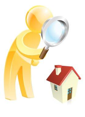 Home survey gold person