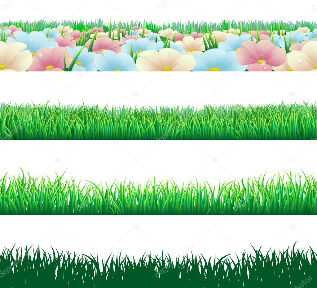 Seamless grass elements