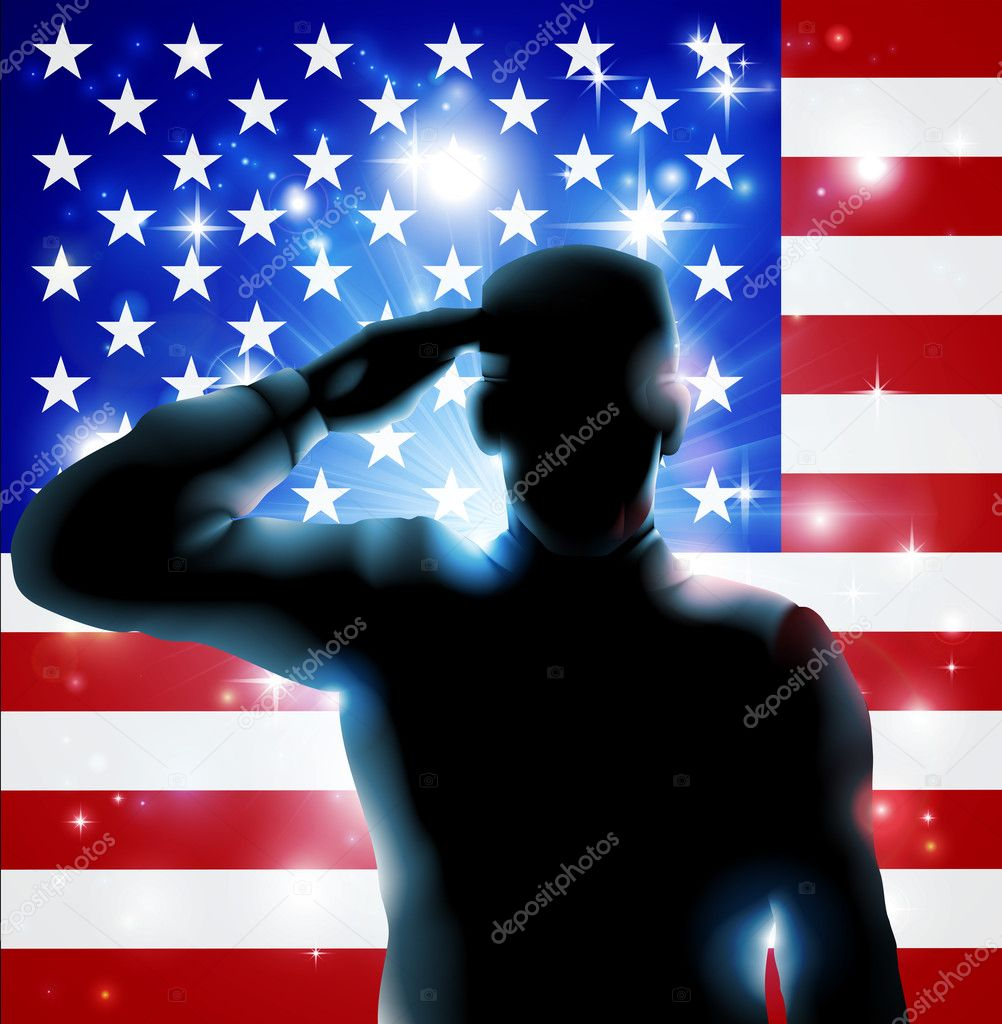 4th July or Veterans Day Illustration