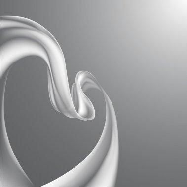 Heart ribbon background