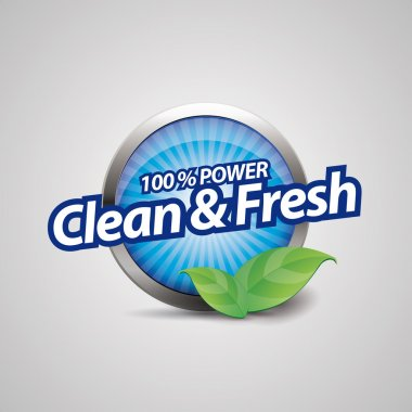 Clean and fresh button