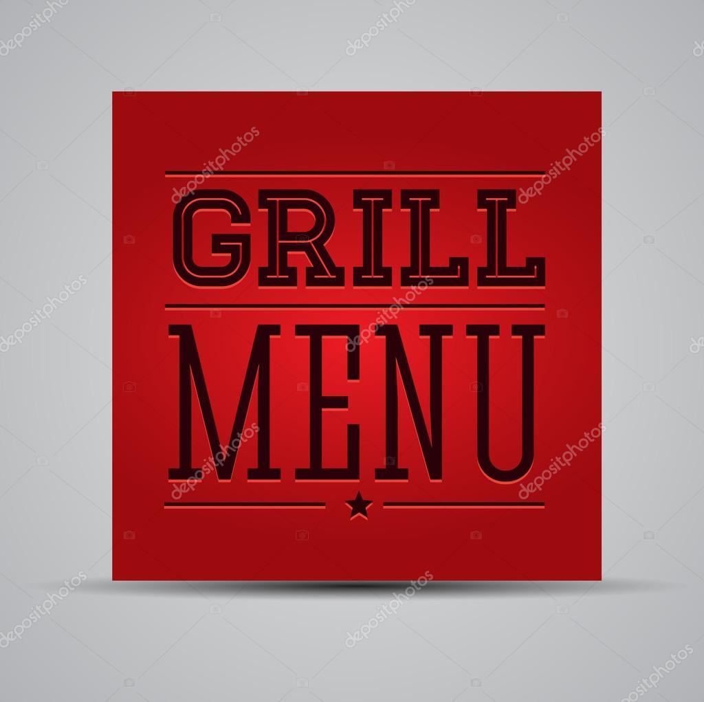 grill menu template stock vector grounder 13167273