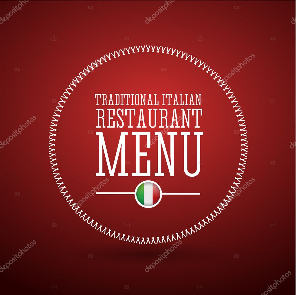 traditional italian restaurant menu — stock vector © grounder #13317223