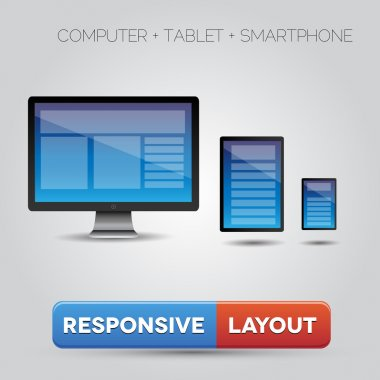 Responsive web design displayed on different devices