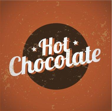 Vintage metal sign - Hot Chocolate