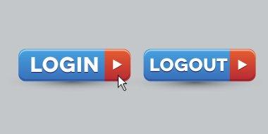 Login Logout button set