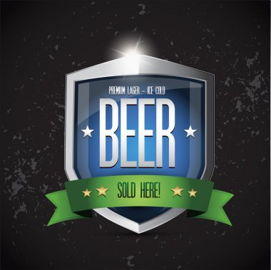 Premium lager - Ice cold Beer Sold here on shield