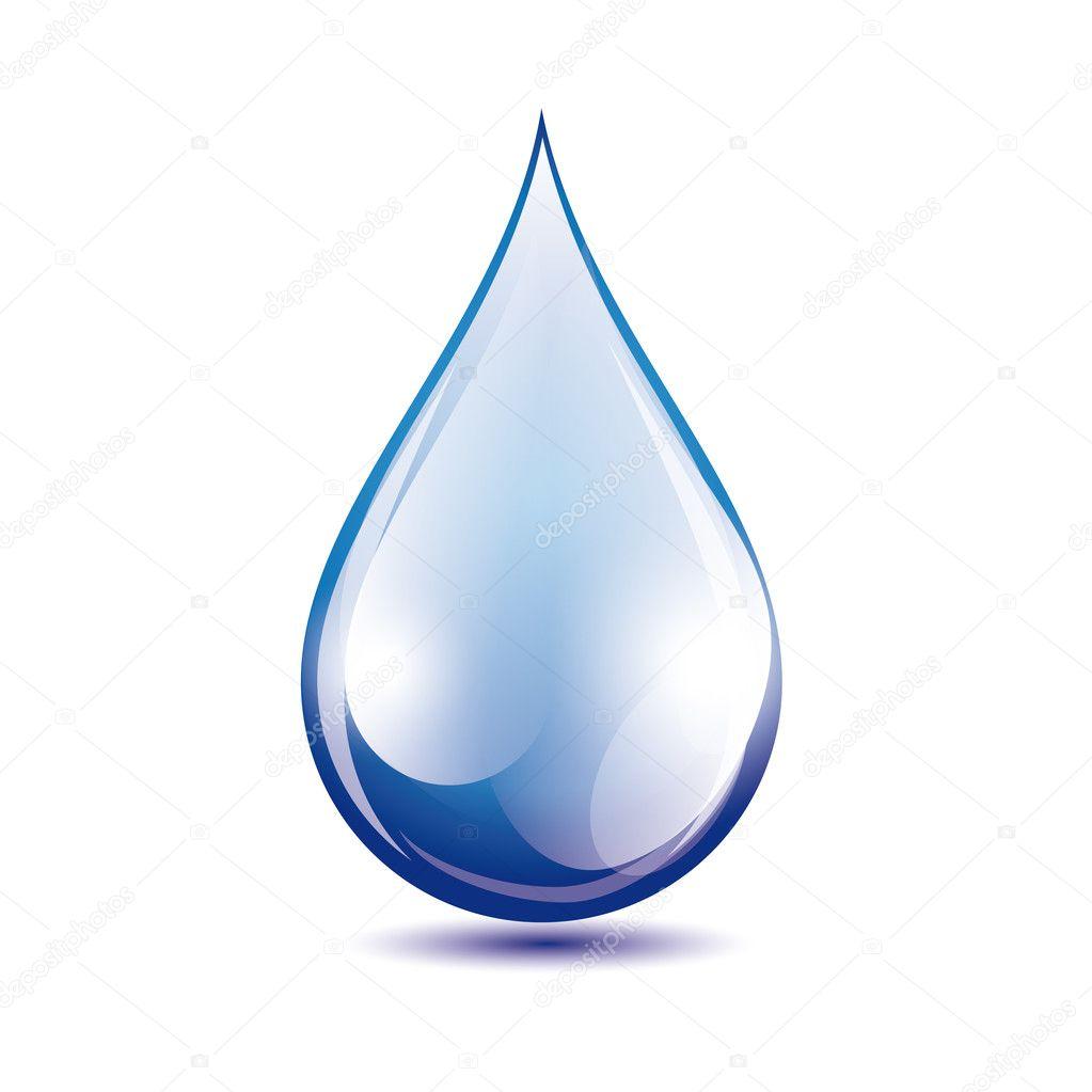 Water drop vector — Stock Vector © Grounder #17214205