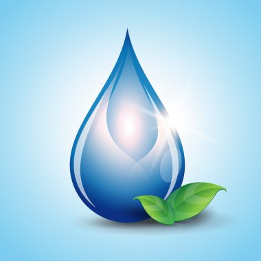 Water drop vector nature background