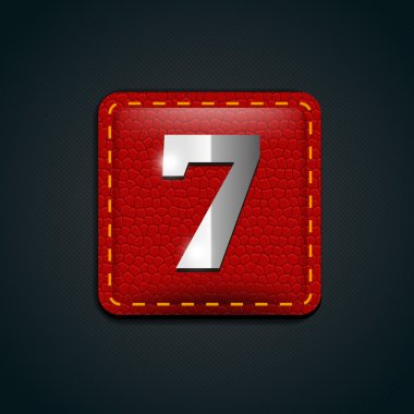 Number seven steel red leather