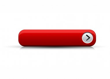 Empty button red vector stock vector