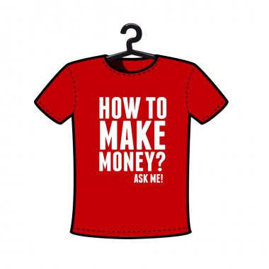 Make money t shirt vector