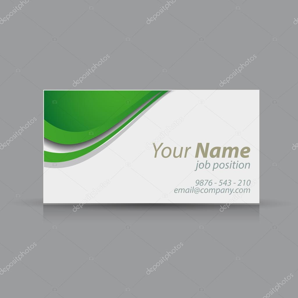 Green vector business card stock vector grounder 22948084 green vector business card stock vector reheart Images