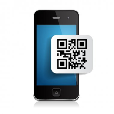 Smartphone and qr code label