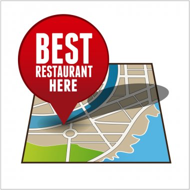 Restaurant finder app button